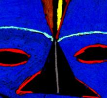 Blue Mask by Josh T-Shirt Sticker