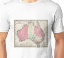 Vintage Map of Australia (1865) Unisex T-Shirt