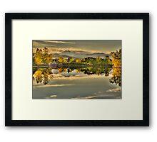 Golden Dreams At Golden Ponds Framed Print