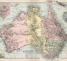 Vintage Map of Australia (1891) by BravuraMedia