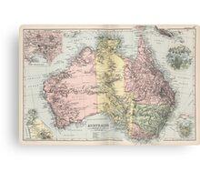 Vintage Map of Australia (1891) Canvas Print