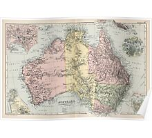 Vintage Map of Australia (1891) Poster