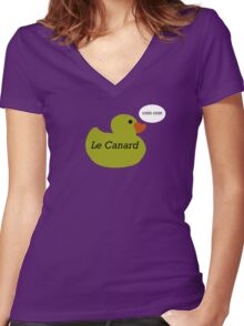 Le Canard Women's Fitted V-Neck T-Shirt