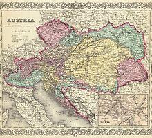 Vintage Map of Austria (1856) by BravuraMedia