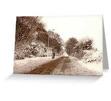 Ormskirk - Snow Greeting Card