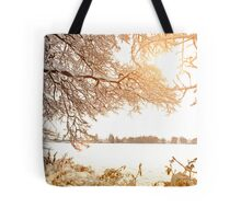 View From Ruff Wood - Ormskirk Snow Scene Tote Bag