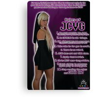 J.C.V.G. Rules Poster Canvas Print