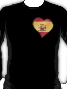 Spanish Flag - Spain - Heart T-Shirt