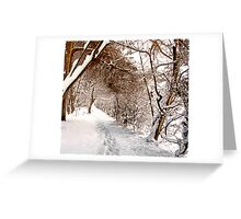 Secret Path - Ruff Wood - Snow Scene Greeting Card