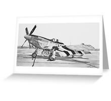 Invasion Stripes (North American P - 51 D Mustang) Greeting Card