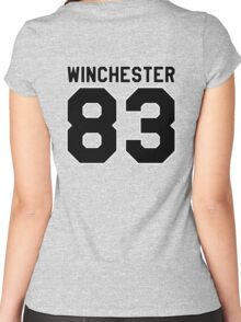 Sam Winchester (Jersey) Women's Fitted Scoop T-Shirt