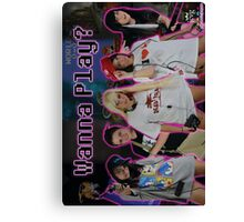 "JCVG 2011 ""Girls Wanna Play"" Poster Canvas Print"
