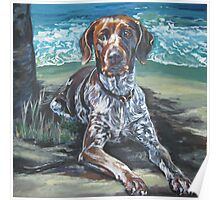 German Shorthaired Pointer Fine Art Painting Poster