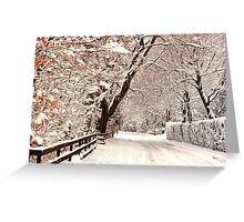 Ruff Lane - Snow Scene Greeting Card