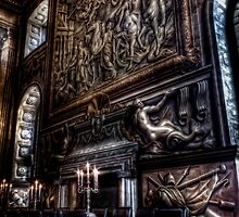 Fireplace in the Painted Hall by Alan E Taylor