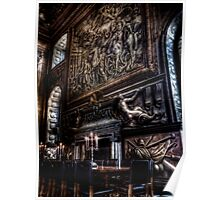 Fireplace in the Painted Hall Poster