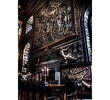 Fireplace in the Painted Hall Photographic Print