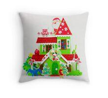 Pat's Happy Christmas Throw Pillow