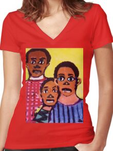 Different Drums  T-Shirt & Sticker by Joshua D. W. Broomfield Women's Fitted V-Neck T-Shirt