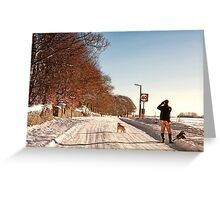 Pause For a Photo - Snowy Ruff Lane Greeting Card