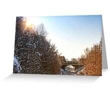 Ormskirk Railway Tracks - Snow Scene Greeting Card