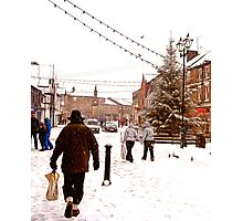 Ormskirk Town Centre - Snowing Photographic Print