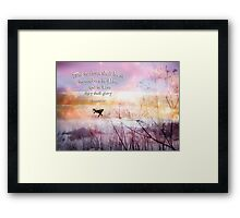 The Nations shall bless... Framed Print
