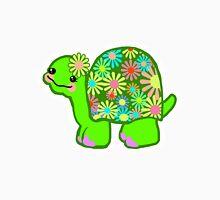 Kawaii Turtle Girl with retro flowers - Unisex T-Shirt