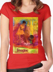 Imagine Winning T-Shirt Women's Fitted Scoop T-Shirt