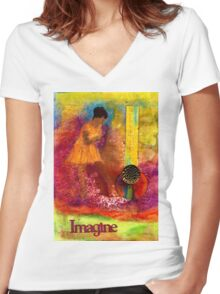 Imagine Winning T-Shirt Women's Fitted V-Neck T-Shirt