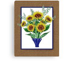 Sunflowers Bouquet Canvas Print