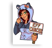 EFF CANCER! Canvas Print