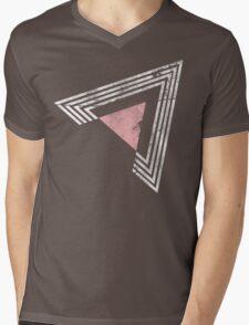 Geometric Shapes Mens V-Neck T-Shirt