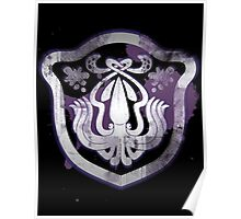 Splatoon Inspired: Squid spray paint logo Poster
