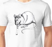 smoking rat Unisex T-Shirt