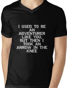 I used to be an adventurer like you, but then I took an arrow in the knee Mens V-Neck T-Shirt