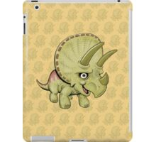 Cute Triceratops with pattern iPad Case/Skin