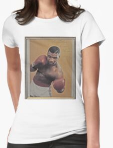 Mike Tyson-PROFESSIONAL BOXER Womens Fitted T-Shirt