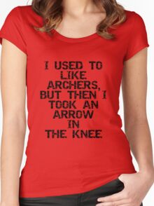 I used to like archers, but then I took an arrow in the knee Women's Fitted Scoop T-Shirt