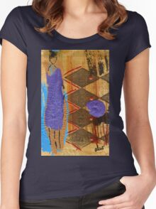 Purple Dress T-Shirt Women's Fitted Scoop T-Shirt