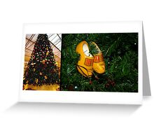 WoodenShoes Xmas Tree - diptych Greeting Card