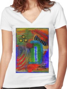 Sound The Trumpet T-Shirt Women's Fitted V-Neck T-Shirt