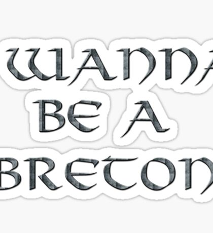 Breton Text Only Sticker