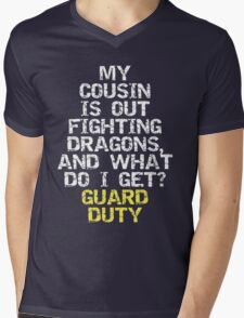 Guard Duty Mens V-Neck T-Shirt