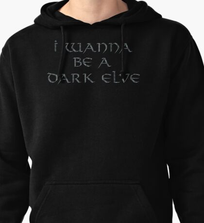 Dark Elve Text Only Pullover Hoodie