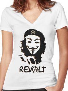 REVOLT Women's Fitted V-Neck T-Shirt