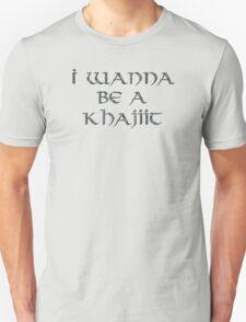 Khajiit Text Only Unisex T-Shirt