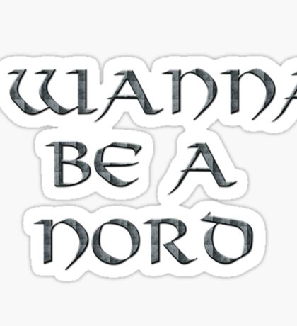 Nord Text Only Sticker