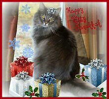 Happy Hanukkah Kitty by Sheryl Gerhard