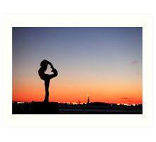 Yoga in New York silouette Art Print